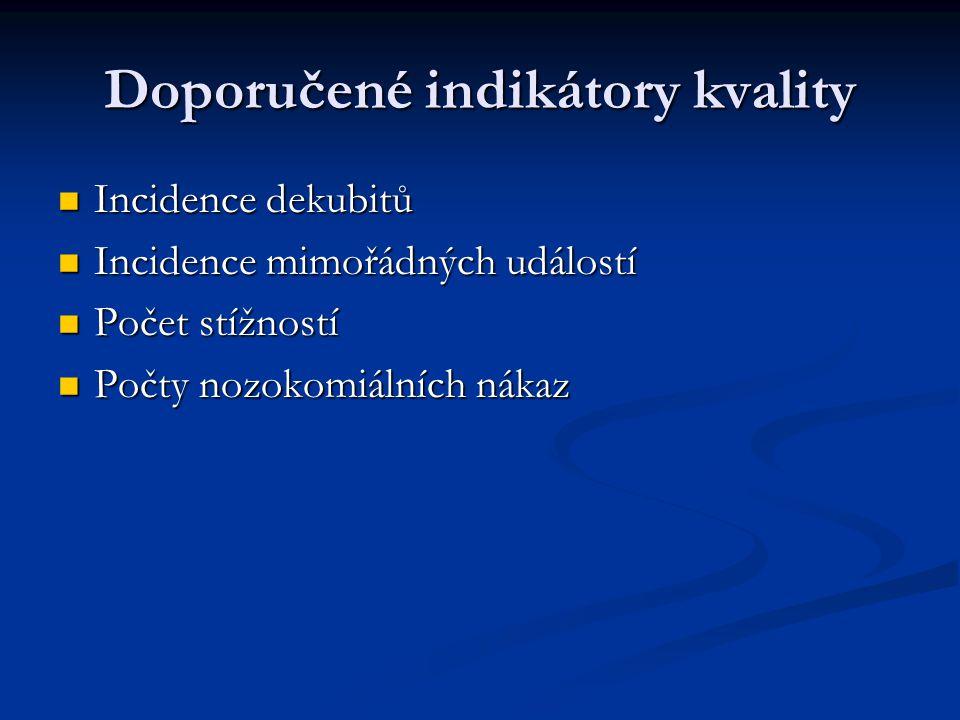 Doporučené indikátory kvality