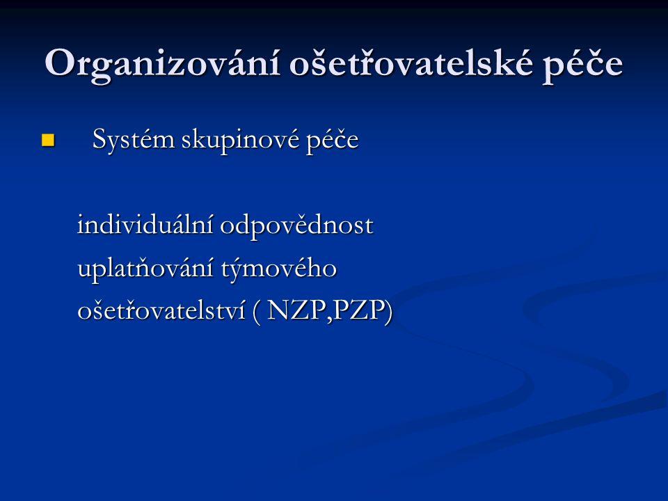 Organizování ošetřovatelské péče