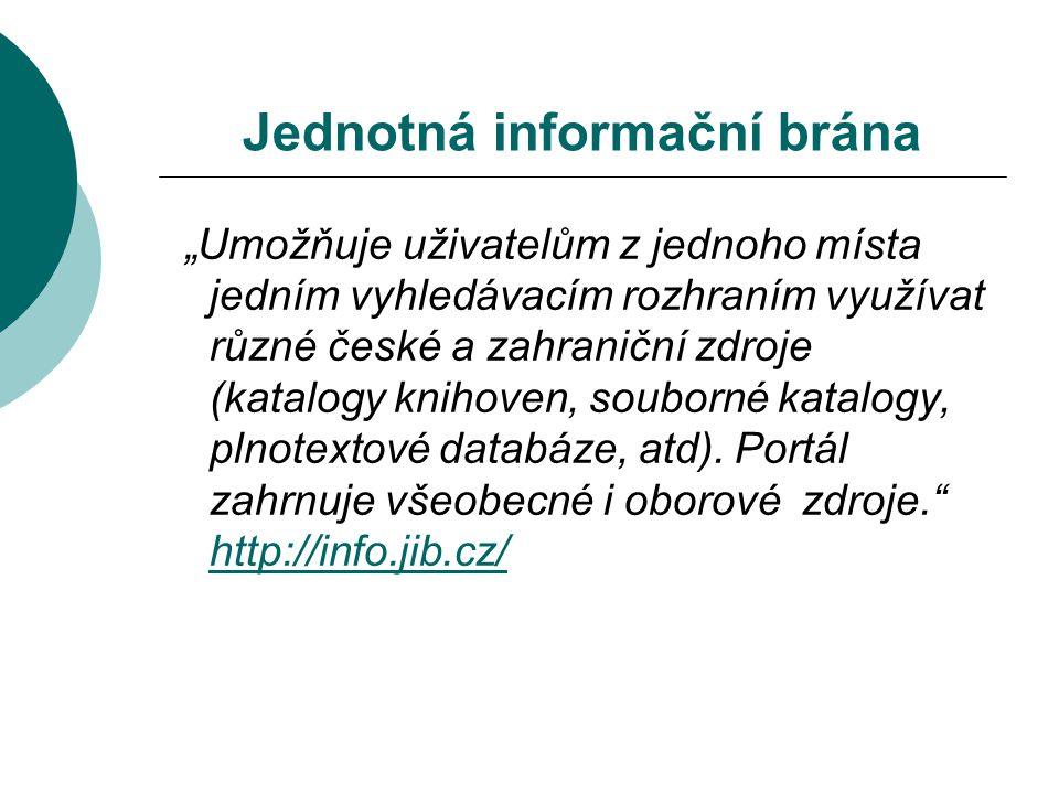 Jednotná informační brána