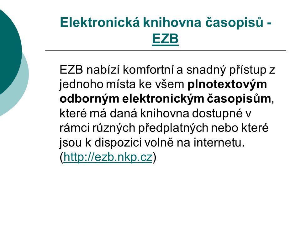 Elektronická knihovna časopisů - EZB