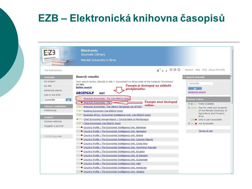 EZB – Elektronická knihovna časopisů
