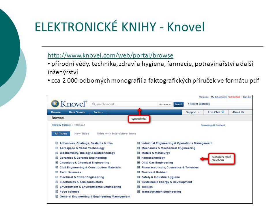 ELEKTRONICKÉ KNIHY - Knovel