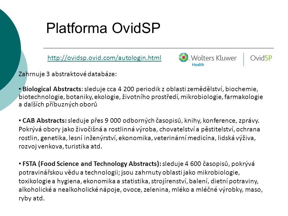 Platforma OvidSP http://ovidsp.ovid.com/autologin.html
