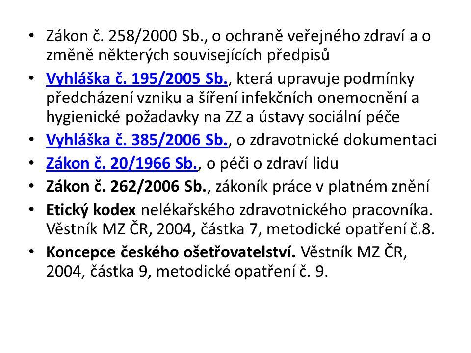 Zákon č. 258/2000 Sb., o ochraně veřejného zdraví a o změně některých souvisejících předpisů