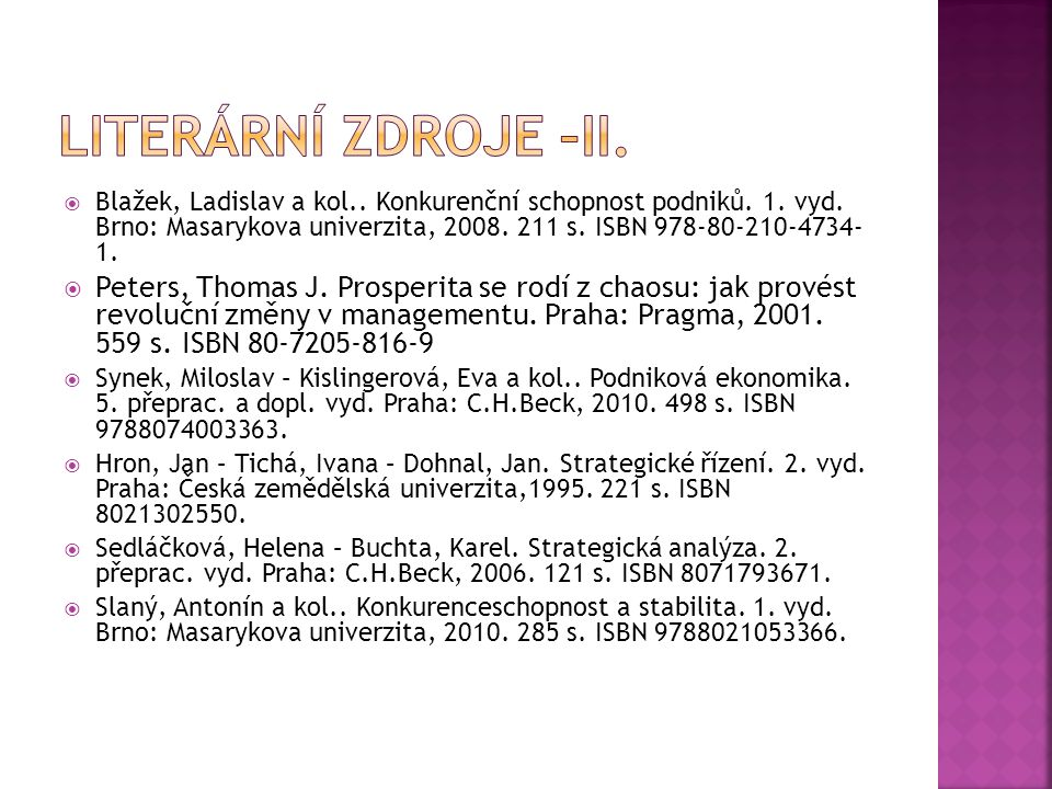 Literární zdroje –ii.