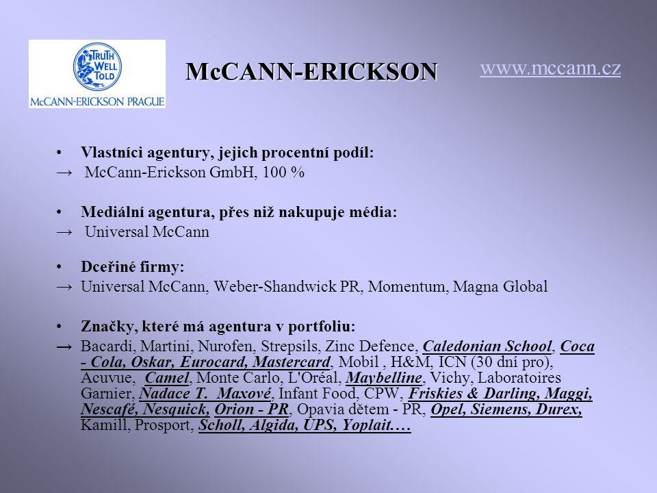 McCANN-ERICKSON www.mccann.cz