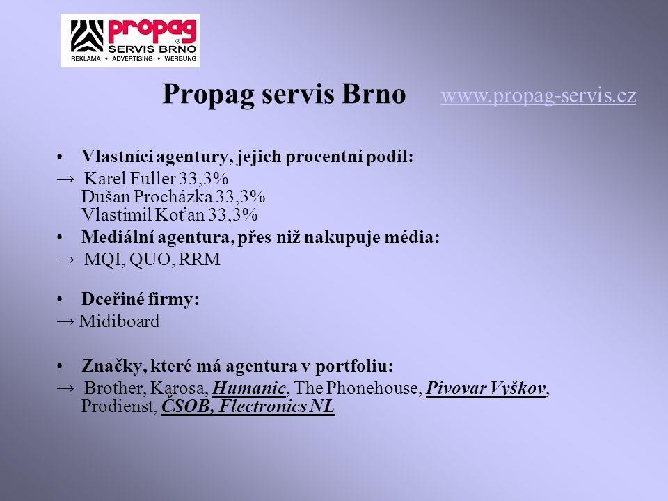 Propag servis Brno www.propag-servis.cz