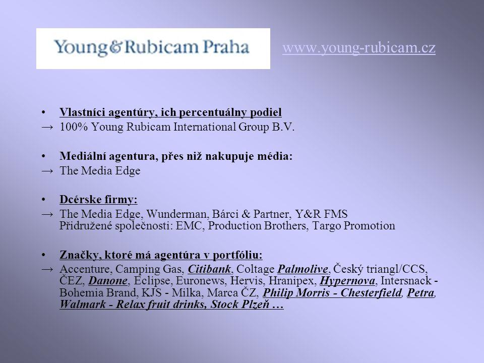 www.young-rubicam.cz Vlastníci agentúry, ich percentuálny podiel