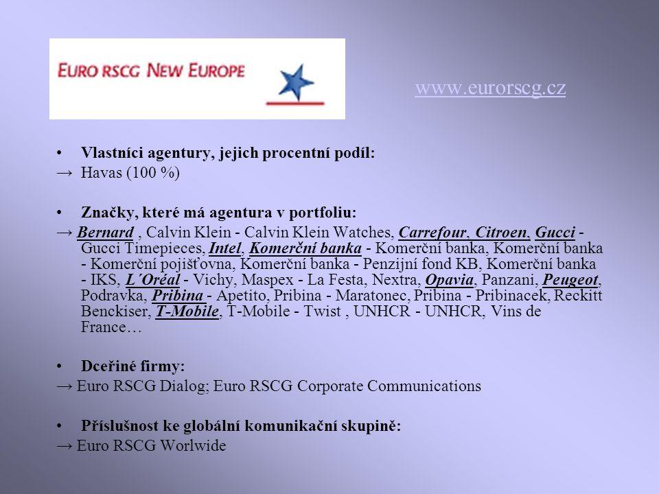www.eurorscg.cz Vlastníci agentury, jejich procentní podíl:
