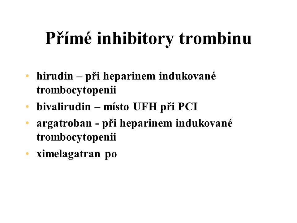 Přímé inhibitory trombinu