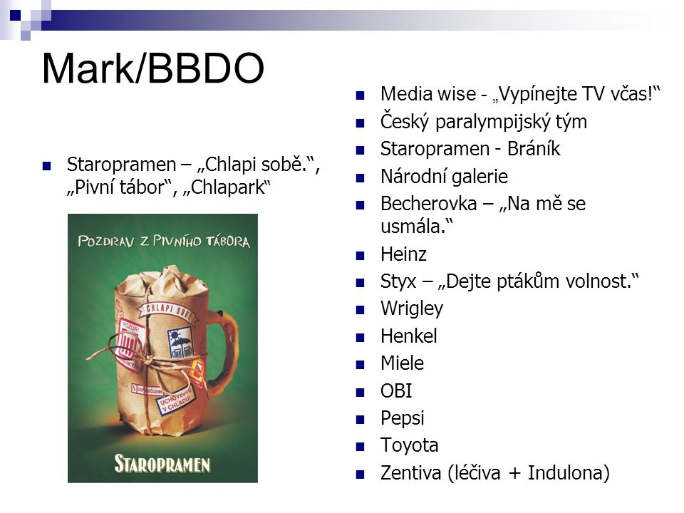 """Mark/BBDO Media wise - """"Vypínejte TV včas! Český paralympijský tým"""