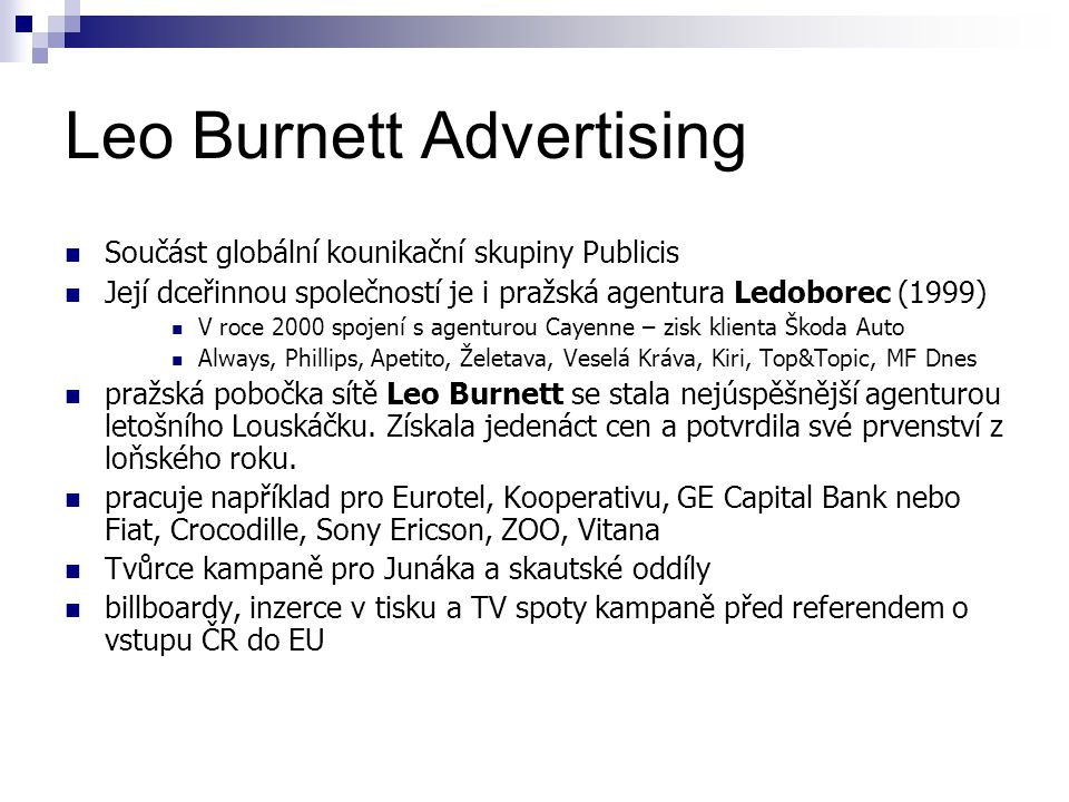 Leo Burnett Advertising