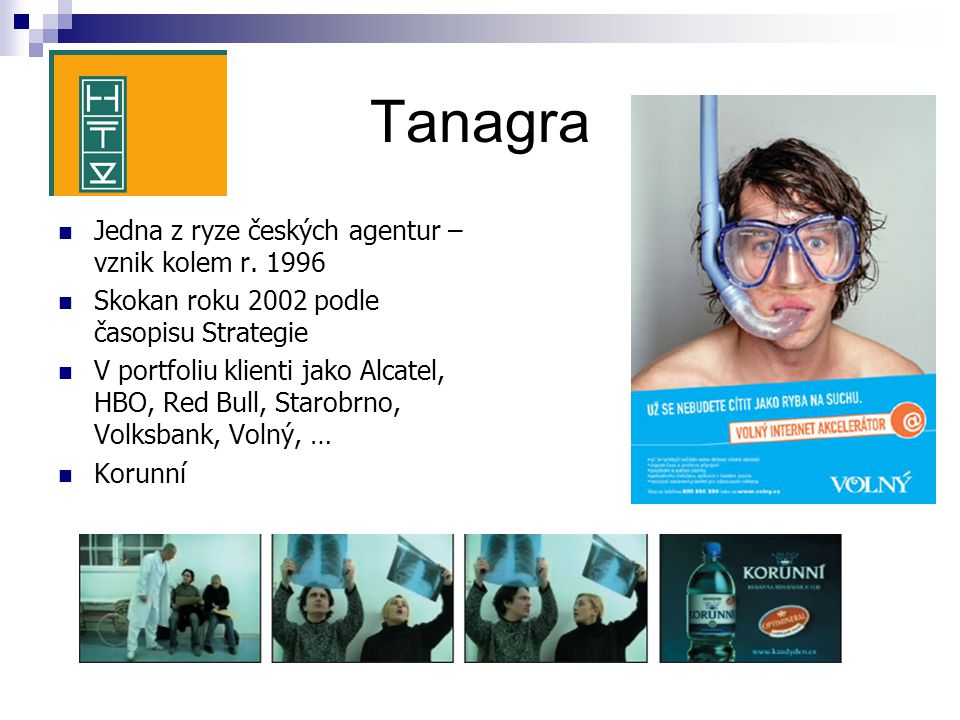 Tanagra Jedna z ryze českých agentur – vznik kolem r. 1996