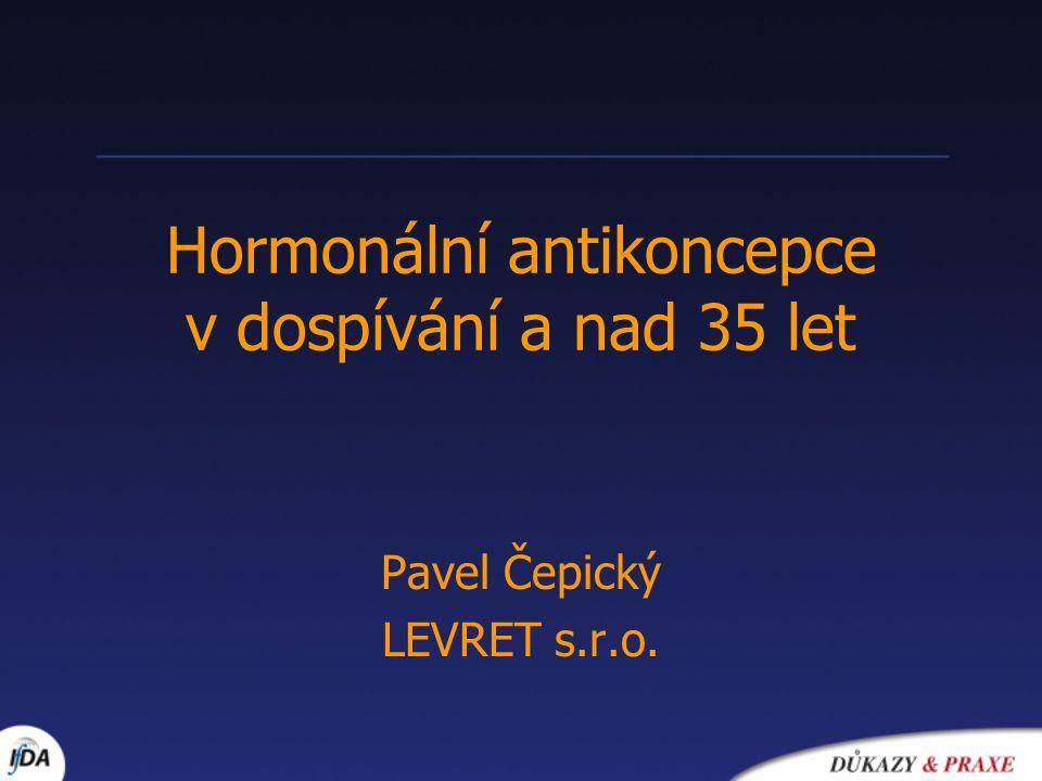 Hormonální antikoncepce v dospívání a nad 35 let