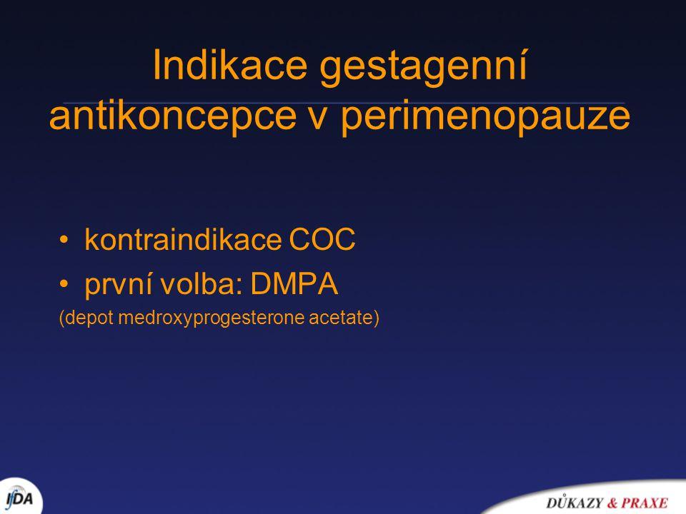 Indikace gestagenní antikoncepce v perimenopauze