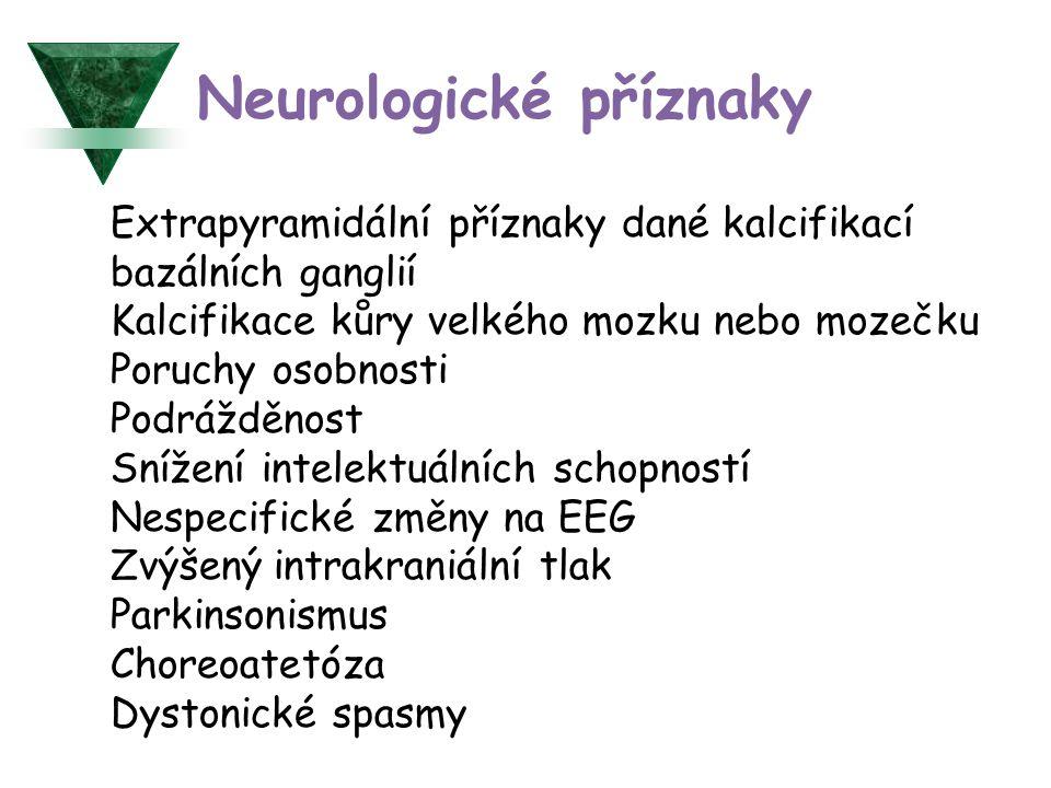 Neurologické příznaky