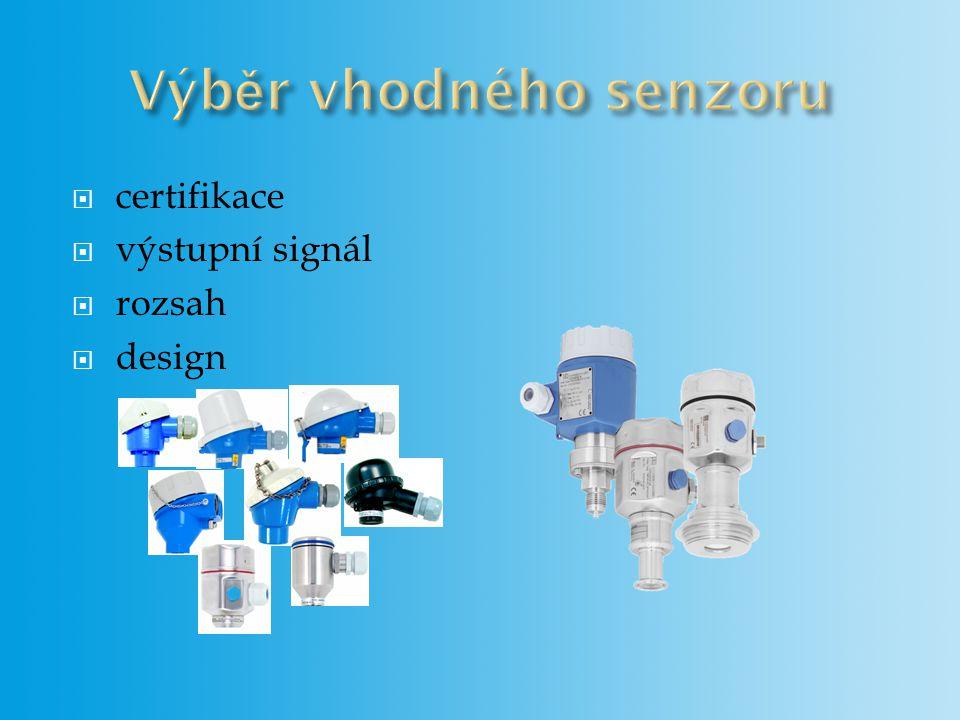 Výběr vhodného senzoru