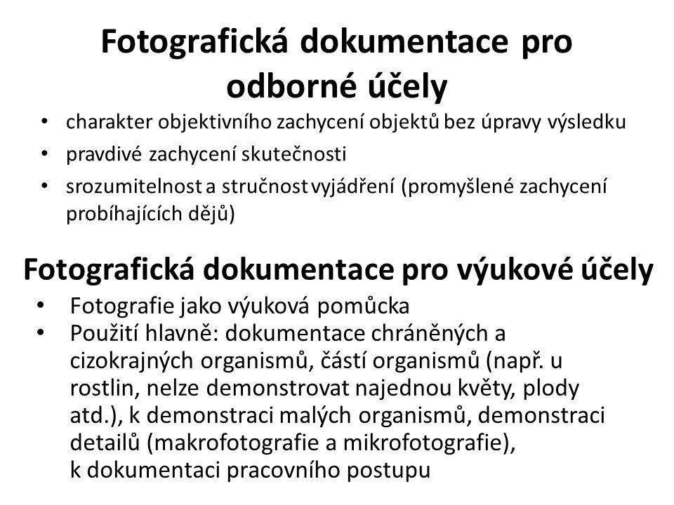 Fotografická dokumentace pro odborné účely
