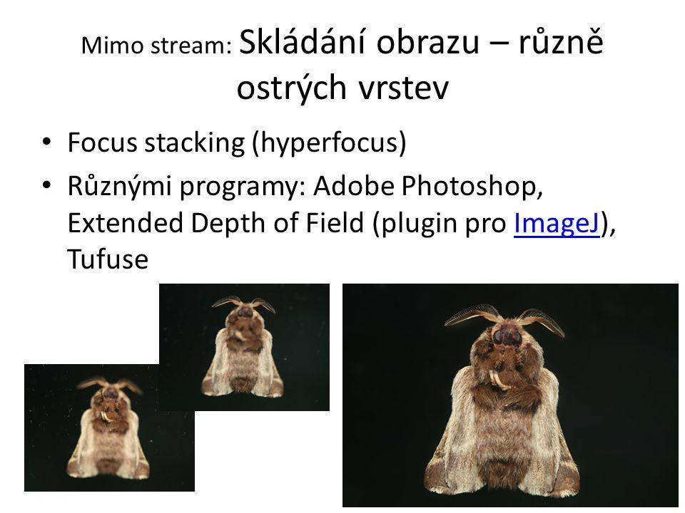 Mimo stream: Skládání obrazu – různě ostrých vrstev