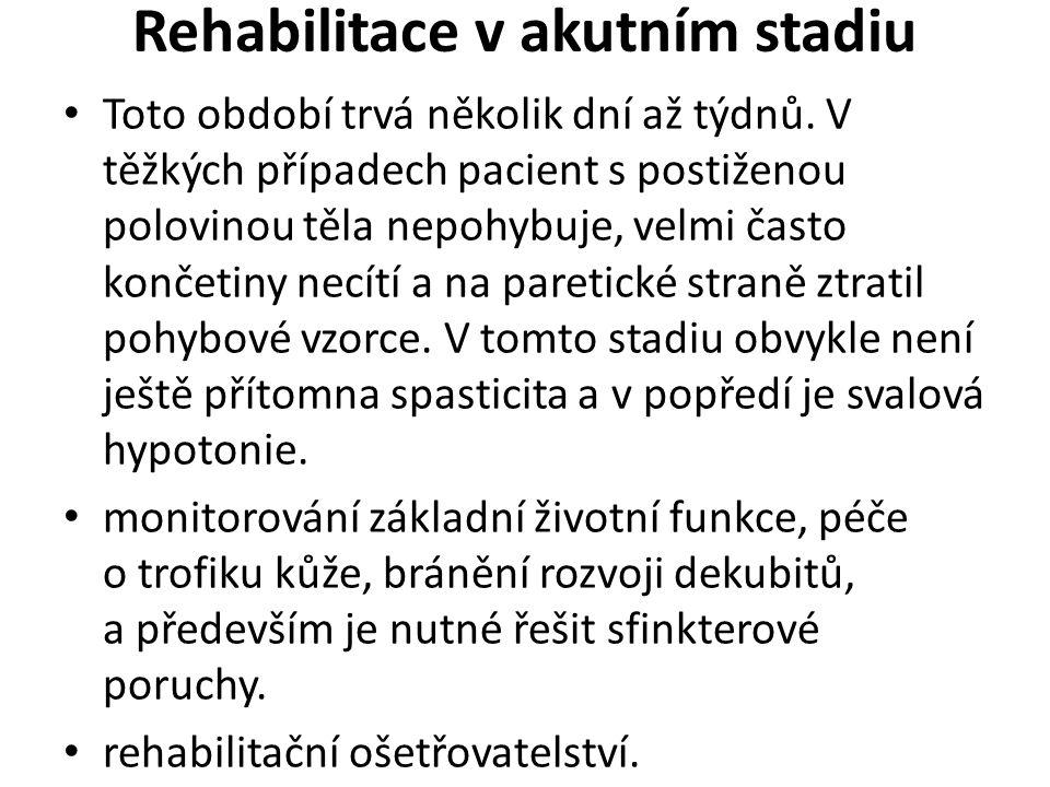 Rehabilitace v akutním stadiu