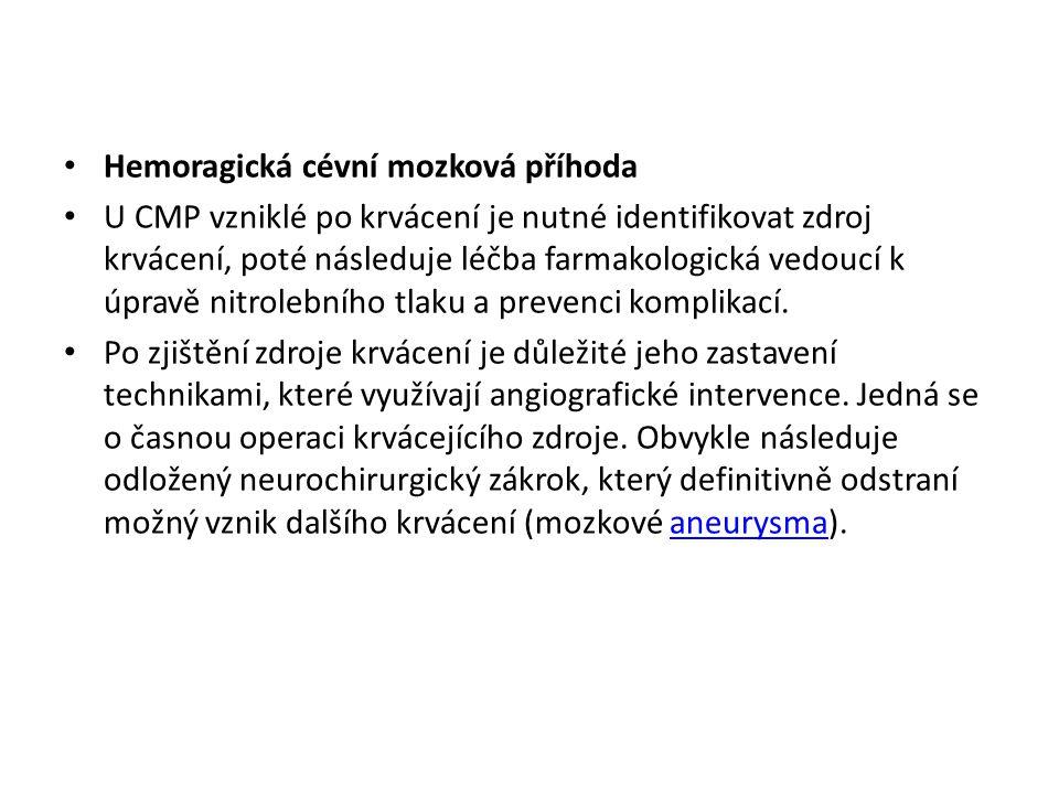 Hemoragická cévní mozková příhoda