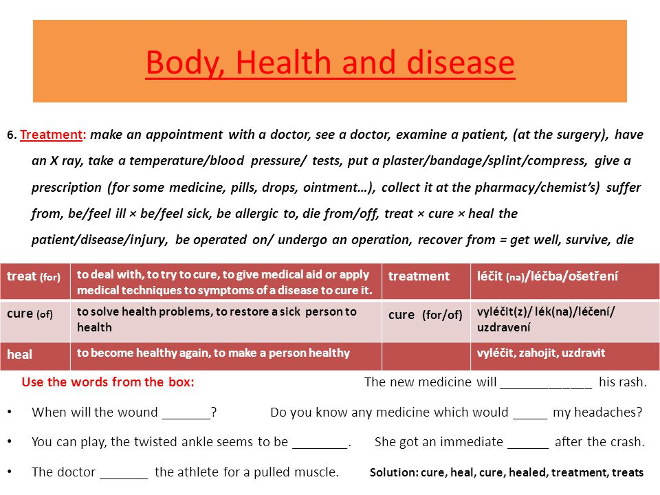 Body, Health and disease