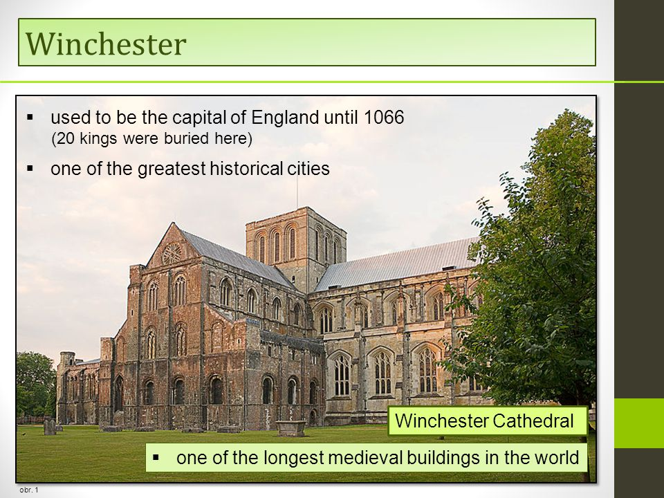 Winchester used to be the capital of England until 1066
