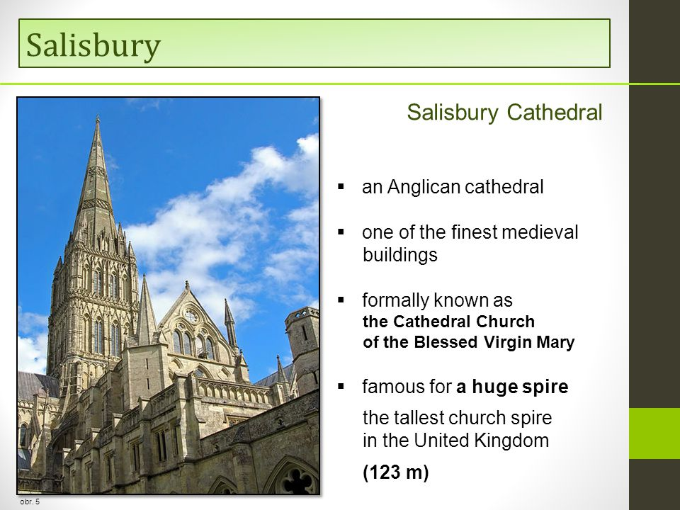 Salisbury Salisbury Cathedral an Anglican cathedral