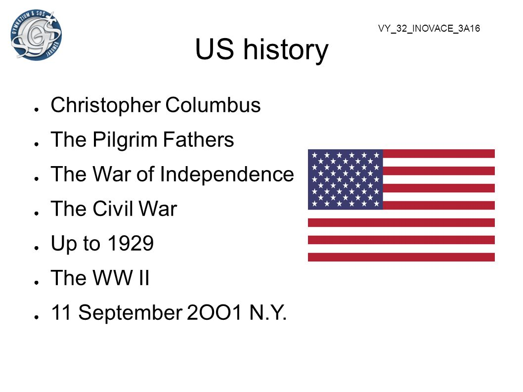 US history Christopher Columbus The Pilgrim Fathers