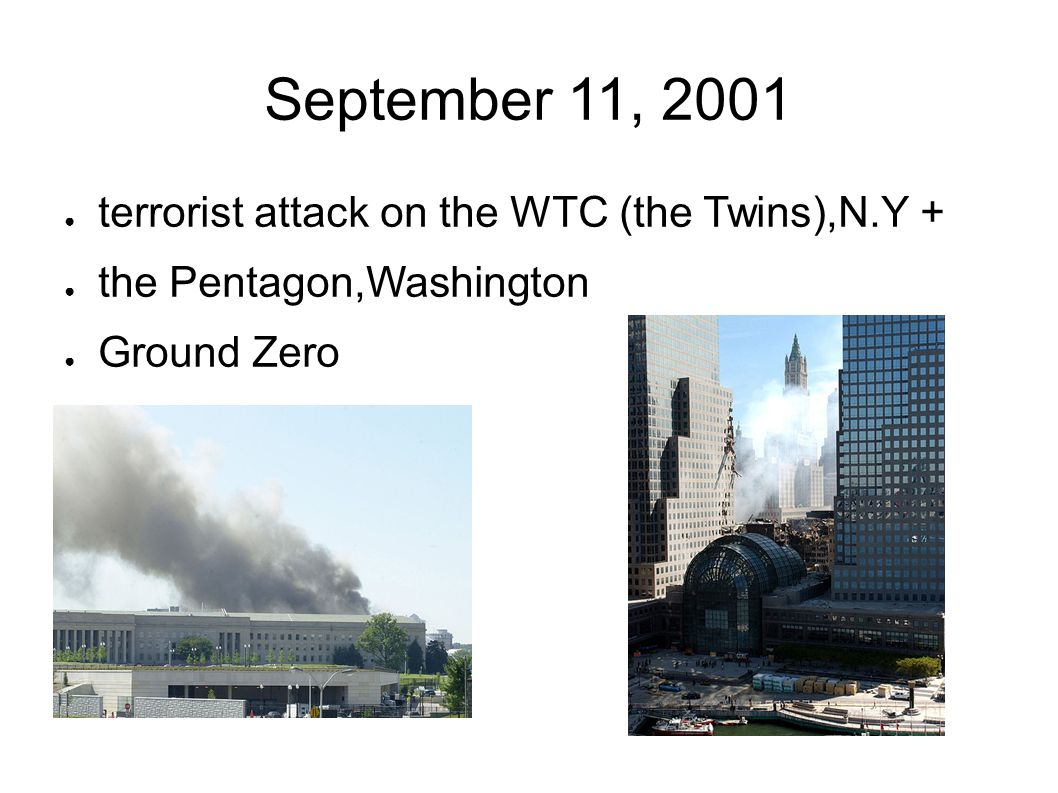 September 11, 2001 terrorist attack on the WTC (the Twins),N.Y +