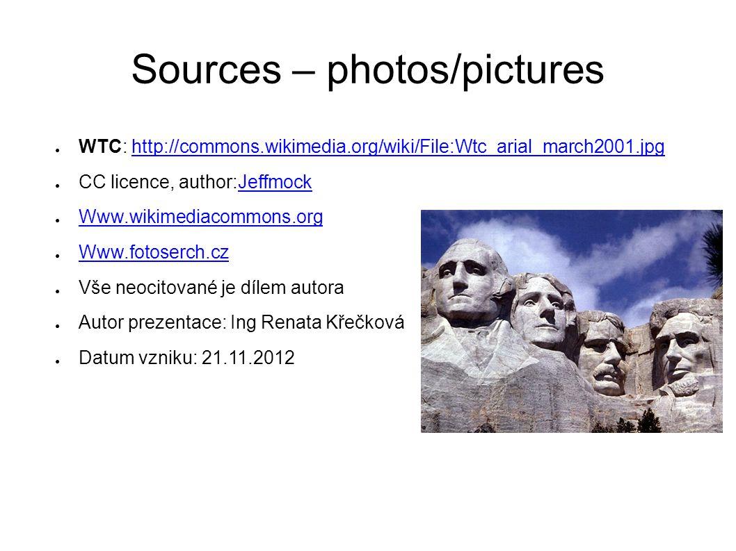Sources – photos/pictures