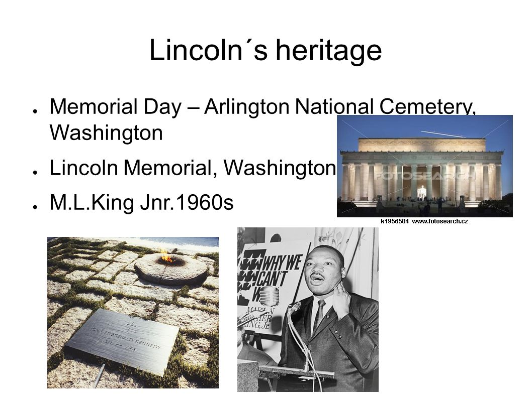Lincoln´s heritage Memorial Day – Arlington National Cemetery, Washington. Lincoln Memorial, Washington.