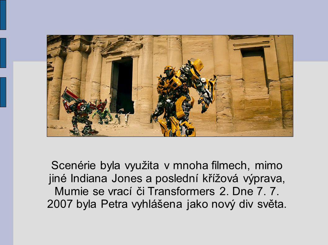 Scenérie byla využita v mnoha filmech, mimo jiné Indiana Jones a poslední křížová výprava, Mumie se vrací či Transformers 2.