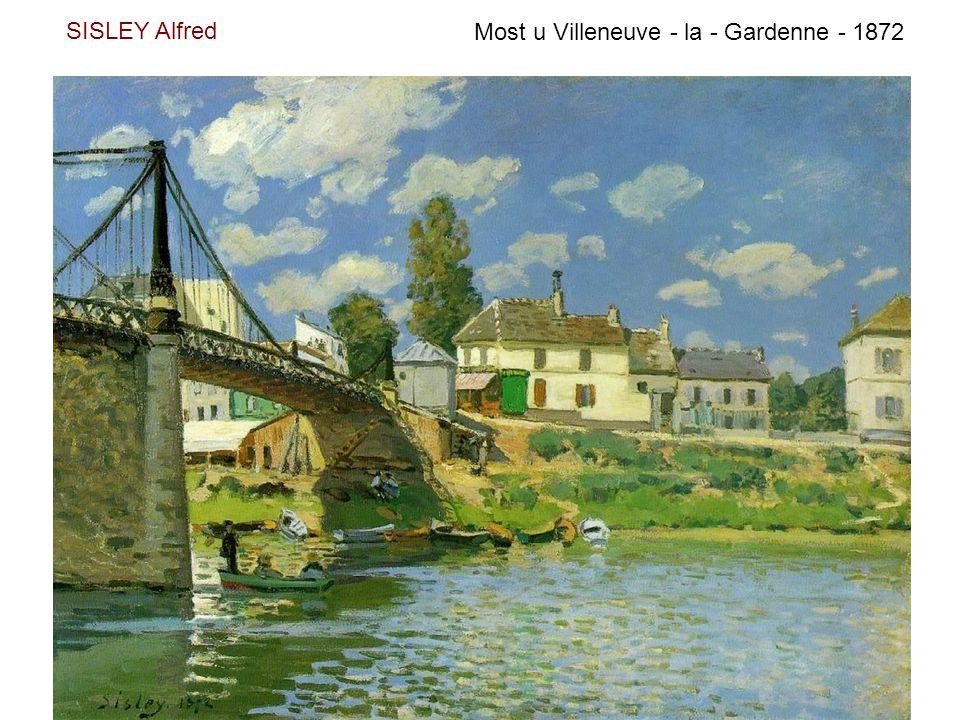 SISLEY Alfred Most u Villeneuve - la - Gardenne - 1872