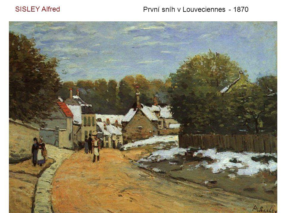 SISLEY Alfred První sníh v Louveciennes - 1870