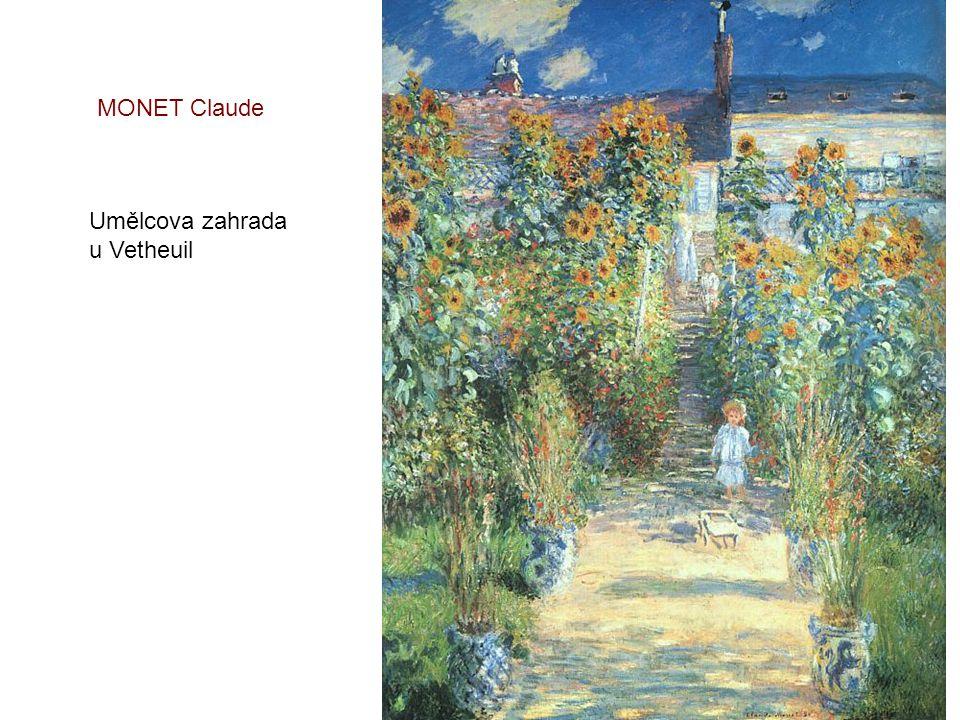 MONET Claude Umělcova zahrada u Vetheuil