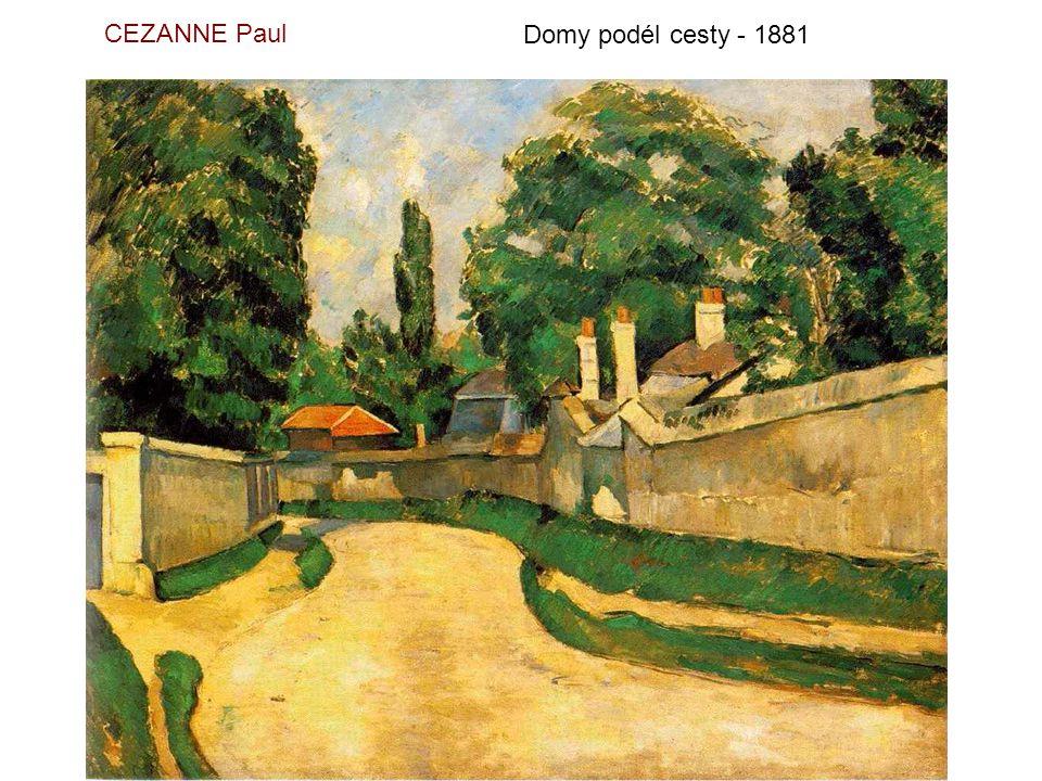 CEZANNE Paul Domy podél cesty - 1881