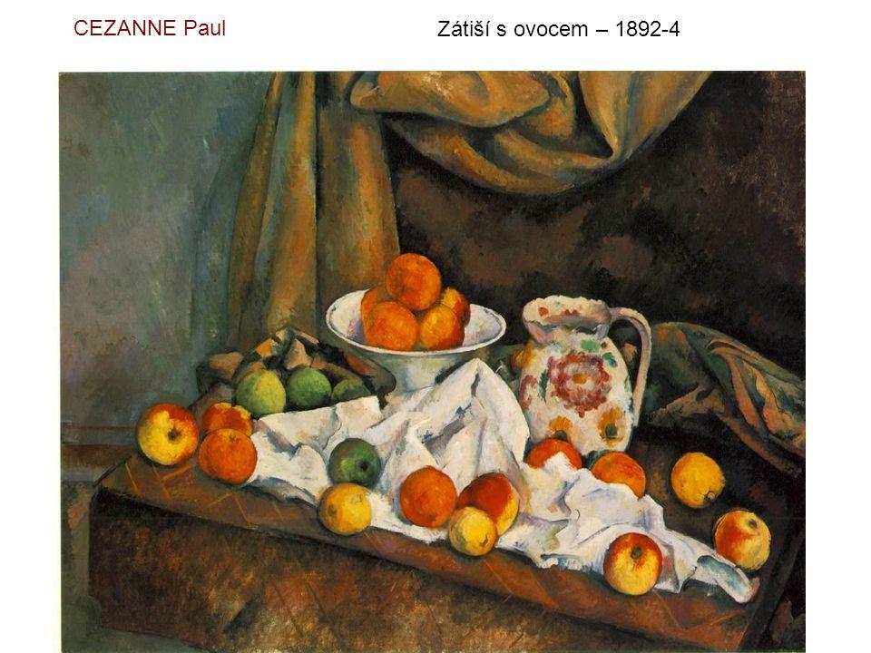 CEZANNE Paul Zátiší s ovocem – 1892-4