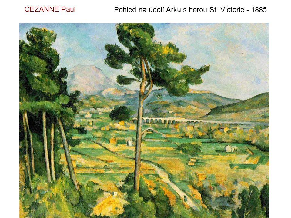 CEZANNE Paul Pohled na údolí Arku s horou St. Victorie - 1885