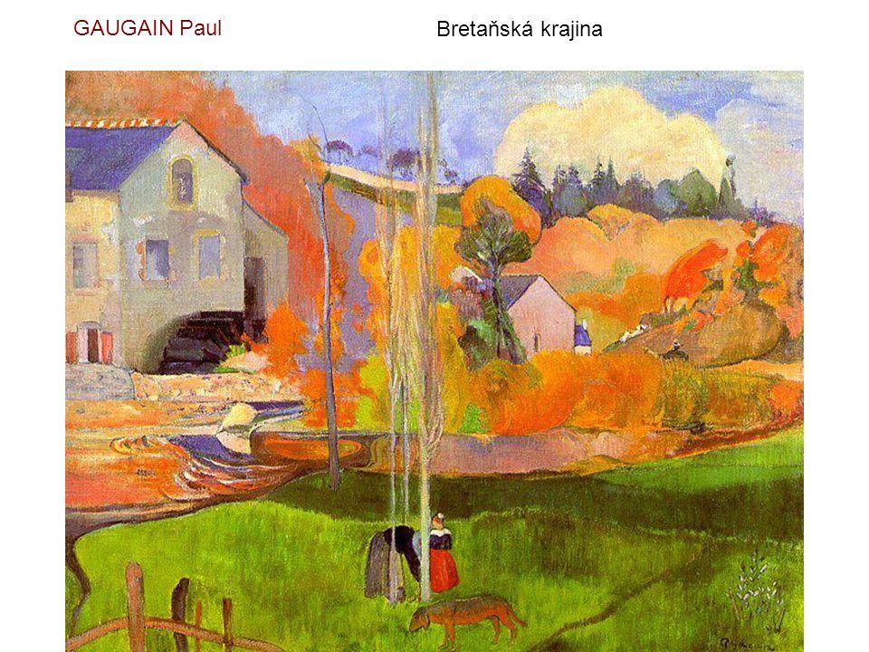 GAUGAIN Paul Bretaňská krajina