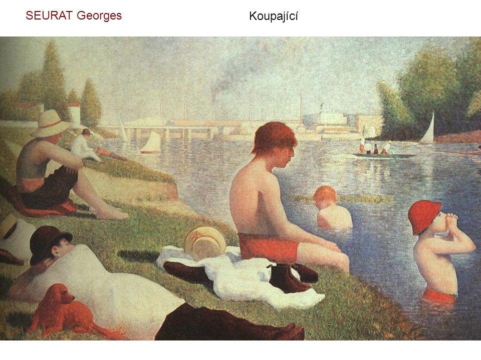 SEURAT Georges Koupající