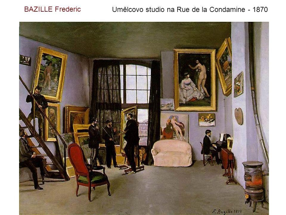 BAZILLE Frederic Umělcovo studio na Rue de la Condamine - 1870