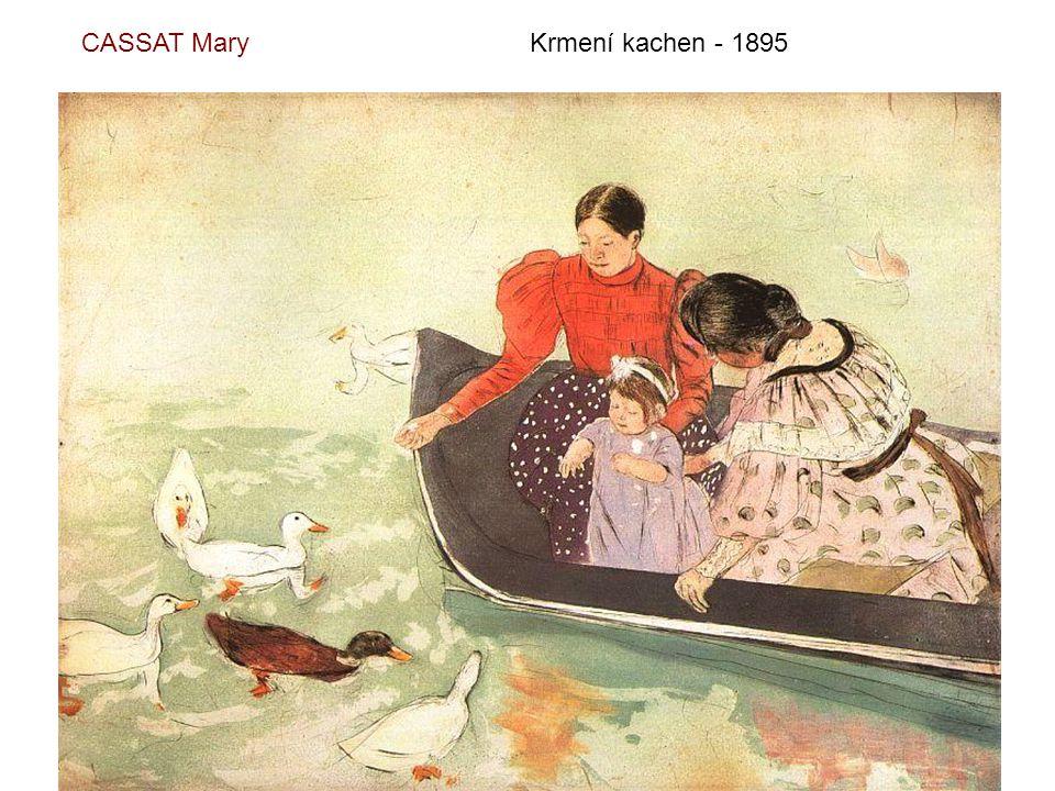 CASSAT Mary Krmení kachen - 1895