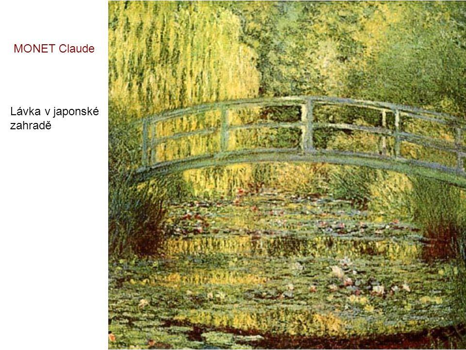 MONET Claude Lávka v japonské zahradě
