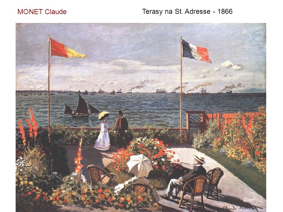MONET Claude Terasy na St. Adresse - 1866