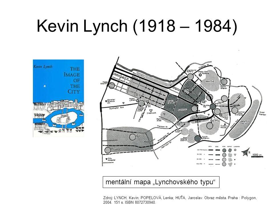 """Kevin Lynch (1918 – 1984) mentální mapa """"Lynchovského typu"""