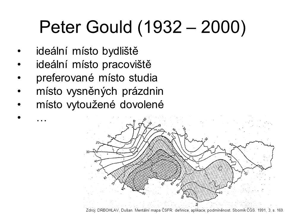 Peter Gould (1932 – 2000) ideální místo bydliště