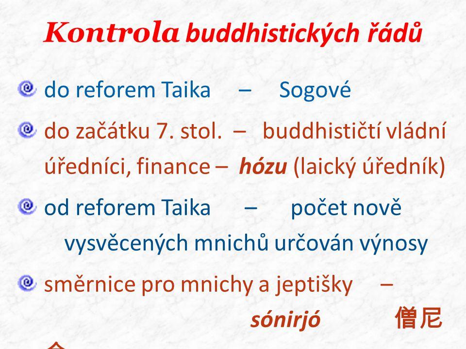 Kontrola buddhistických řádů