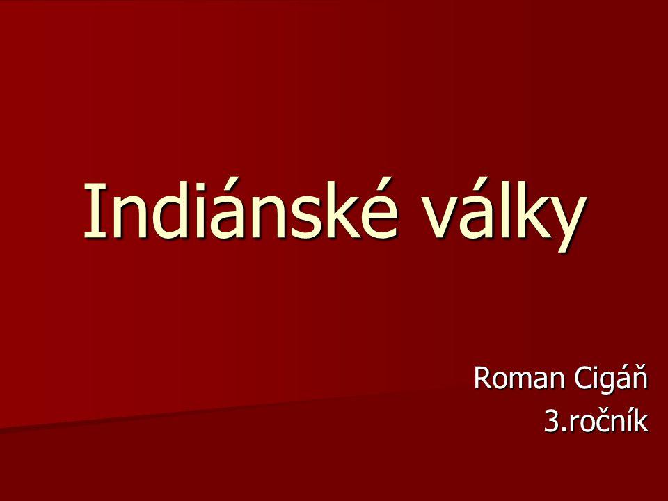 Indiánské války Roman Cigáň 3.ročník