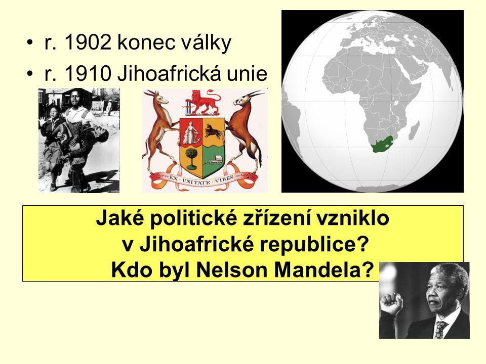 Jaké politické zřízení vzniklo v Jihoafrické republice